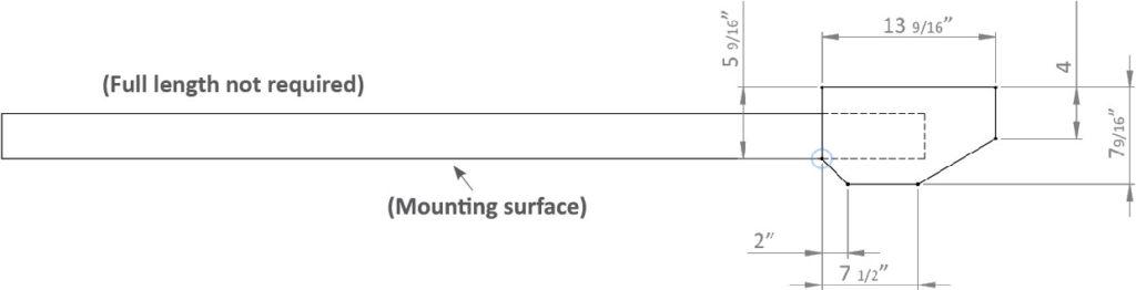 peak rod rack mounting template