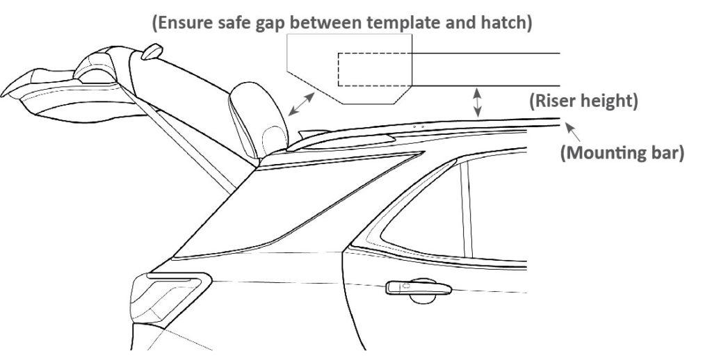 peak rod transport mounting template
